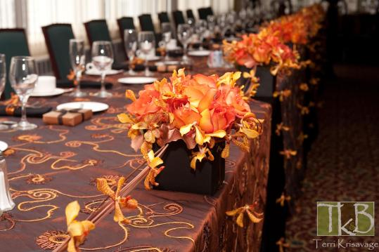 copper and black arrangements